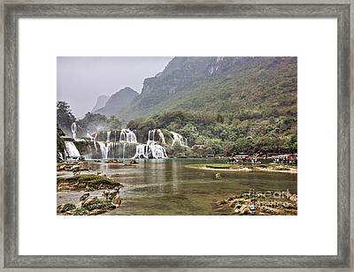 Ban Gioc Waterfall Distance  Framed Print