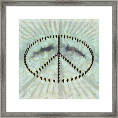 Ban The Bomb Framed Print by Esoterica Art Agency