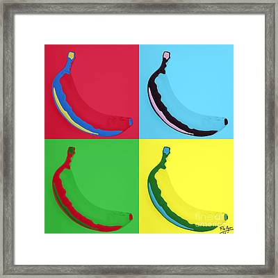 Banana 25 Framed Print by Flo Ryan