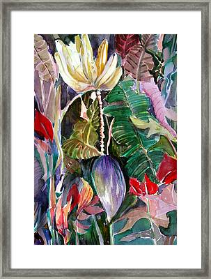 Banana And Pods Framed Print