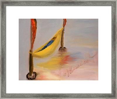 banana hammock framed print by dj russell banana hammock painting by dj russell  rh   fineartamerica