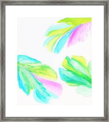 Banana Leaf - Neon Framed Print