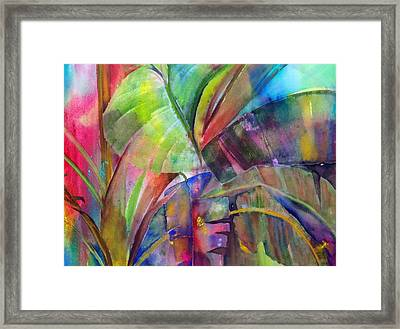 Banana Leaves IIi Framed Print by Maritza Bermudez
