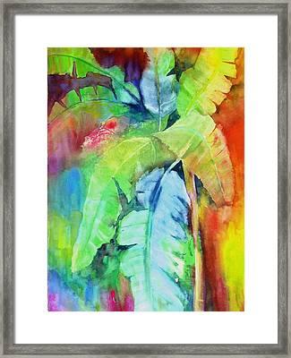 Banana Leaves Framed Print by Maritza Bermudez