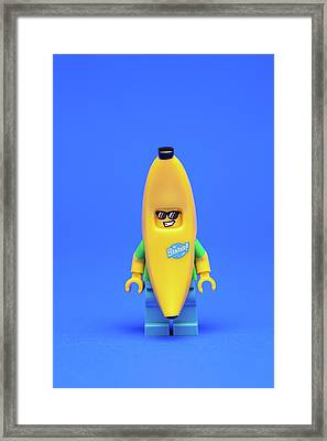 Banana Man Framed Print by Samuel Whitton