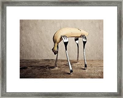 Banana Framed Print by Nailia Schwarz