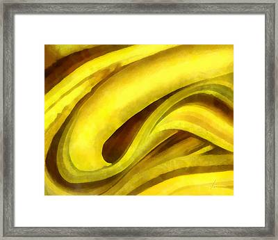 Banana With Chocolate Framed Print by Francesa Miller