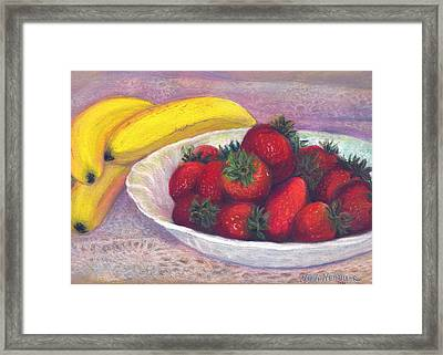 Bananas And Strawberries Framed Print