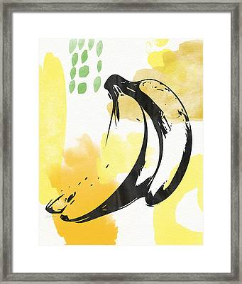 Bananas- Art By Linda Woods Framed Print by Linda Woods