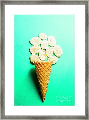 Bananas Over Sorbet Framed Print