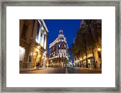 Banco De Valencia Framed Print