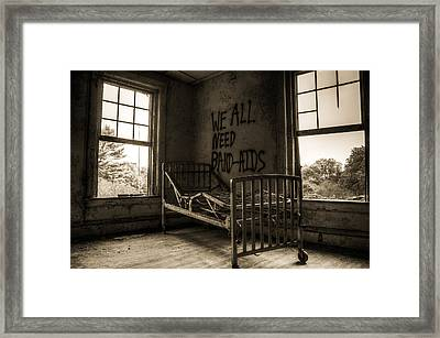 Band-aids Framed Print by Michelle Bir