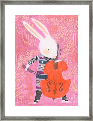 Cello Band Geek Framed Print by Kate Cosgrove