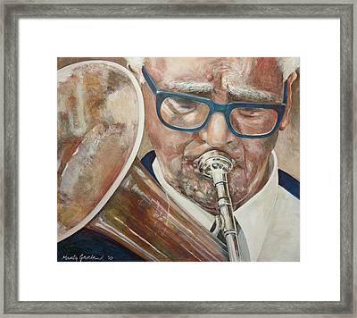 Band Man Framed Print by Marty Garland