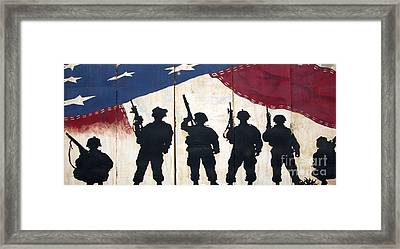 Band Of Brothers - Operation Iraqi Freedom Framed Print by Unknown