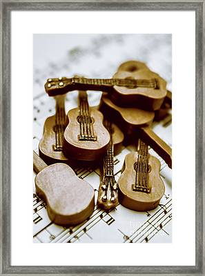 Band Of Live Acoustic Guitars Framed Print