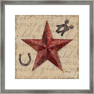 Bandana Barn Star I Framed Print