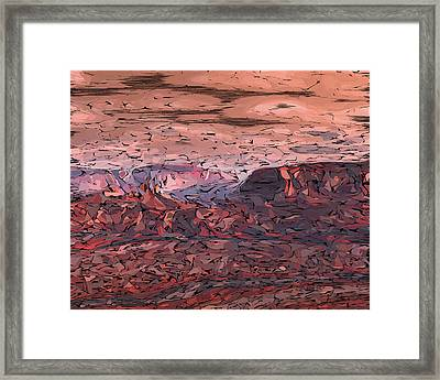 Banded Canyon Abstract Framed Print