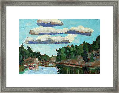Banded Stratocumulus At Sunset Framed Print