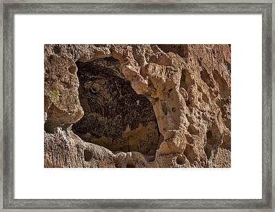 Bandelier Cave Room #2 Framed Print by Stuart Litoff