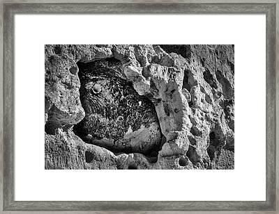 Bandelier Cave Room Framed Print by Stuart Litoff