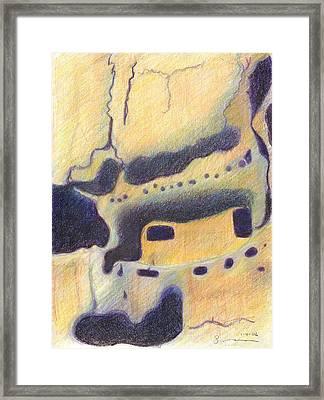 Bandelier I Framed Print by Harriet Emerson