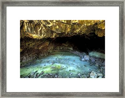 Bandera Ice Cave Framed Print by Sandra Bronstein