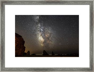 Bandon And Milky Way Framed Print