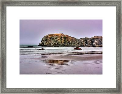 Bandon Beach Oregon Framed Print by Tyra  OBryant