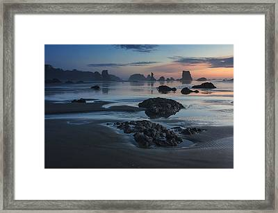 Bandon Beach Sunset Framed Print