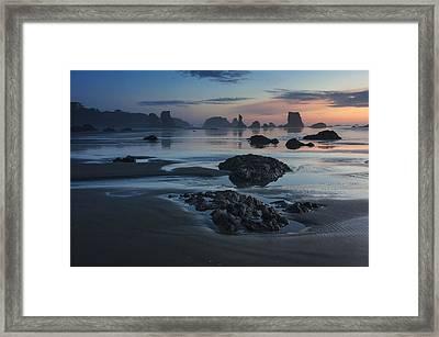 Bandon Beach Sunset Framed Print by Mark Kiver