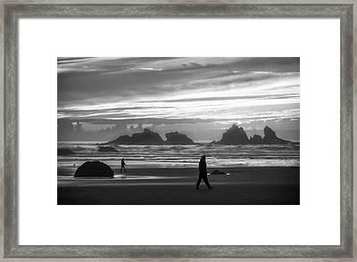 Bandon Beachcombers Framed Print