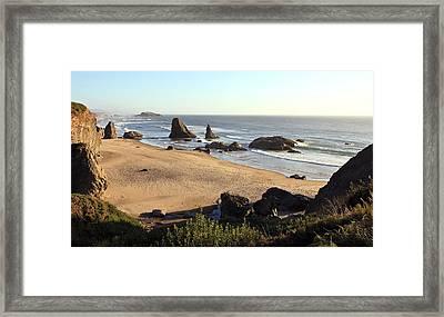 Bandon Beachfront Framed Print