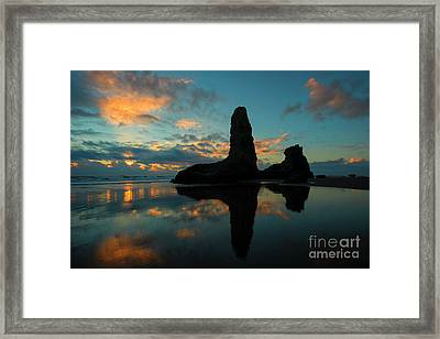 Bandon Mirror Framed Print by Mike Dawson