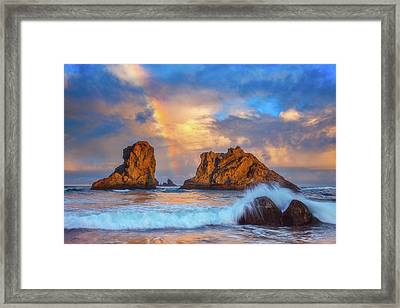 Bandon Rainbow Framed Print