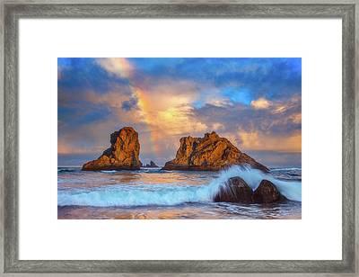 Bandon Rainbow Framed Print by Darren White