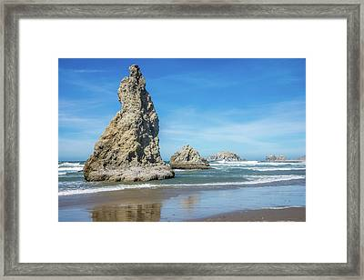 Bandon Rocks Framed Print