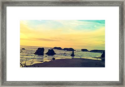 Bandon Seastacks Framed Print by Pacific Northwest Imagery