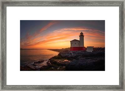 Bandon Sundown Framed Print by Darren  White