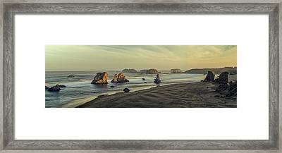 Bandon Sunrise Pano Framed Print