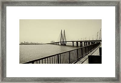 Bandra Worli Sea Link Framed Print by For me, photographs are a great medium to tell a story. Whe