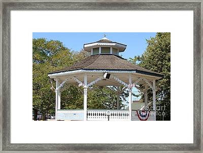 Framed Print featuring the painting Bandshell In Plymouth, Mass by Rod Jellison