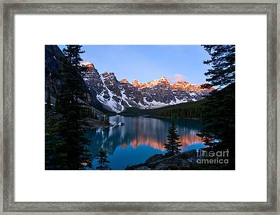 Banff - Moraine Lake Sunrise Framed Print