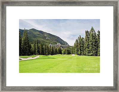 Banff Springs Golf And The Castle Framed Print