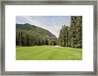 Banff Springs Golf In The Shadow Of The Castle Framed Print