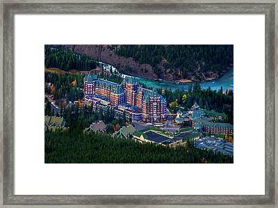 Framed Print featuring the photograph Banff Springs Hotel by John Poon