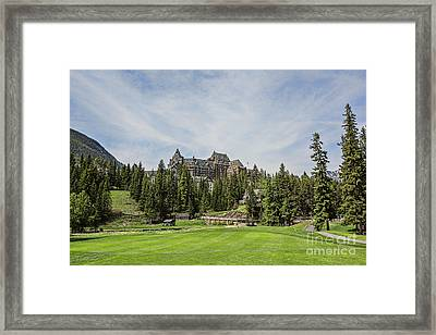 Banff Springs No 15 Fairway And The Castle Framed Print