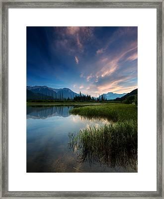 Banff Sunset Framed Print