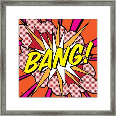 Bang Framed Print