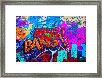 Bang Graffiti Nyc 2014 Framed Print